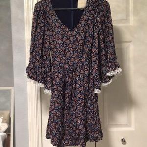 ModCloth XS boho paisley dress